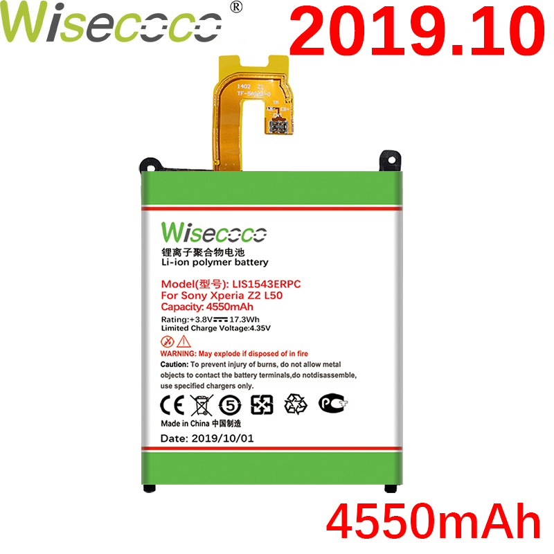 Wisecoco 4550mAh LIS1543ERPC Battery For SONY Xperia Z2 L50w L50U L50T SiriusSO 03 D6503 D6502 Lastest Produce+Tracking Number|Mobile Phone Batteries| |  - title=