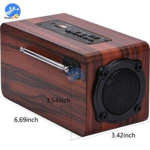 Image 5 - Portable Wooden Wireless Bluetooth Speaker Retro Stereo Subwoofer HiFi FM Radio USB TF AUX for Outdoor Home Desktop Speaker
