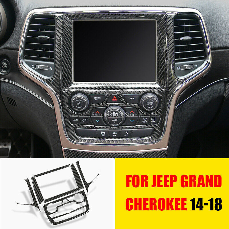 Carbon Fiber Steering Wheel Patch Cover Trim Fit Jeep Grand Cherokee 2014-2018