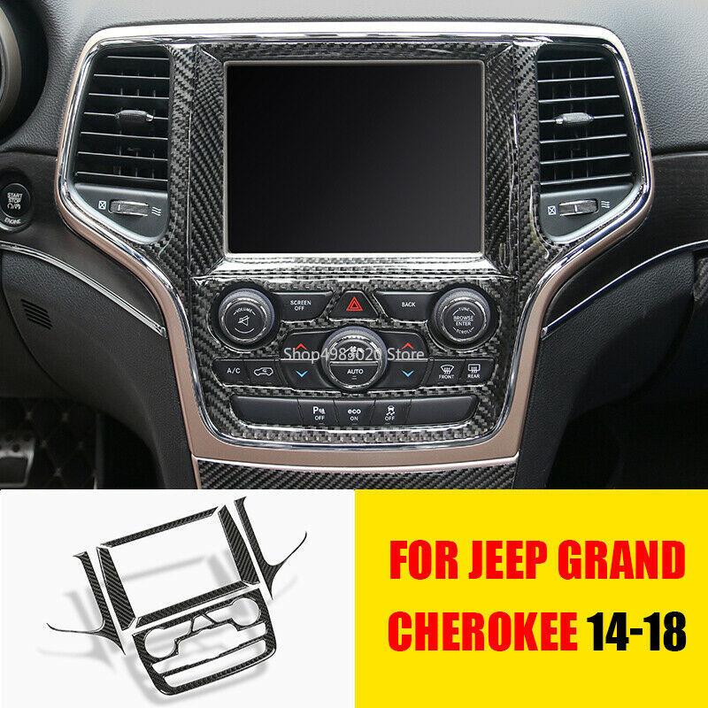 4PCS Car Inner Door Handle Bowl Cover Trim Frame for Jeep Cherokee 2014-2019 Carbon Fiber Grain