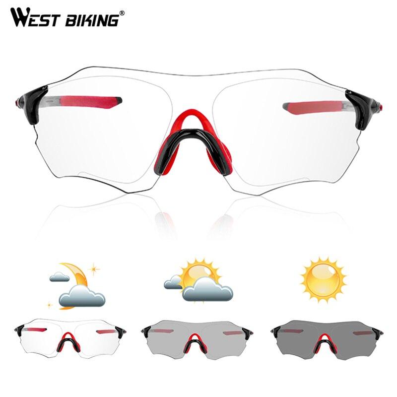WEST RADFAHREN Photochrome Randlose Radfahren Fahrrad Bike Gläser Outdoor Sports MTB Bike Sonnenbrille Brille Radfahren Randlose Brillen