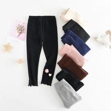 2019 Baby Girls Warm Pants Cotton Leggings Yoga Autumn Children Elastic Waist Toddler Bottoms