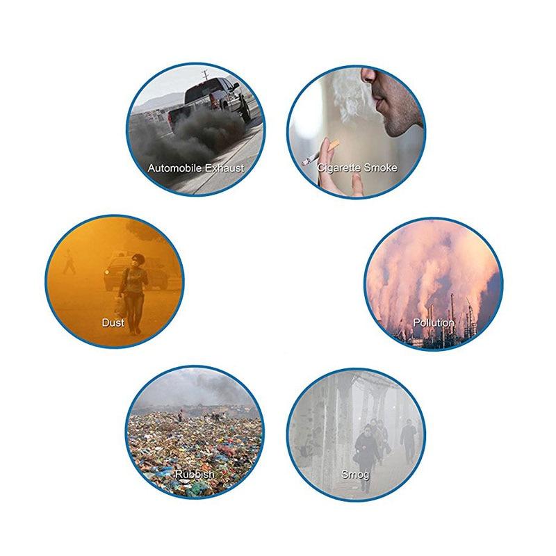 Máscara de poluição Grau Militar Anti Poeira Do Ar e Poluição Causada Pela Fumaça Respirador Máscara com Alças Ajustáveis e um Lavável Máscara Feita 4