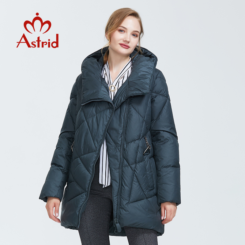 Astrid 2019 Winter New Arrival Down Jacket Women Loose Clothing Outerwear Quality Thick Cotton Mid-length Winter Coat FR-8029