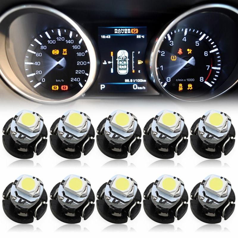 10Pcs T3 SMD Led Neo Wedge Car Dash Gauge Instrument Cluster Bulbs Light White