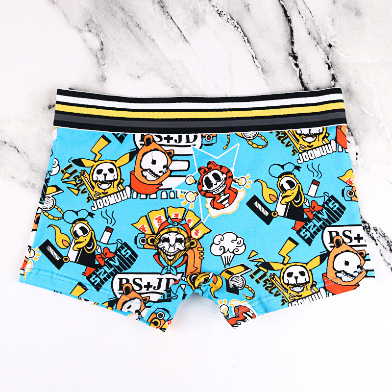 1pcs Women Cotton Cartoon Shorts Tomboy Mid-waisted Neutral Underwear Boxer Briefs Knickers Tran Les Lesbian Boyshort