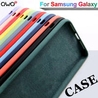 Funda de silicona líquida Original para Samsung Galaxy, funda suave para Samsung Galaxy A52, A51, A50, A72, A71, A70, A41, A32, A31, A21S, A12, S21, Ultra Plus