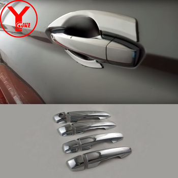 chrome door handle cover for Mitsubishi xpander 2017 2018 ABS car styling handles exterior parts accessories for xpander YCSUNZ image