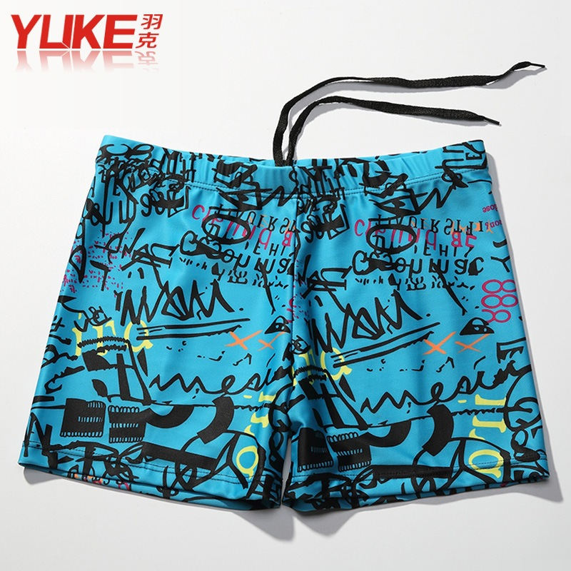Yuke MEN'S Swimming Trunks Boxer Men Loose And Plus-sized Bubble Hot Spring Swimming Trunks Men's Bathing Suit