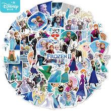 50 sztuk Disney mrożone księżniczka dziewczyna naklejki śliczne kreskówki gitara bagaż wodoodporna naklejka Skateboard Laptop biurowe zabawki dla dzieci tanie tanio CN (pochodzenie) 1 2in(3CM)-3 9 in(10CM) Waterproof PVC Leave trace instagram anime stickers children kpop random 1Pack 50g
