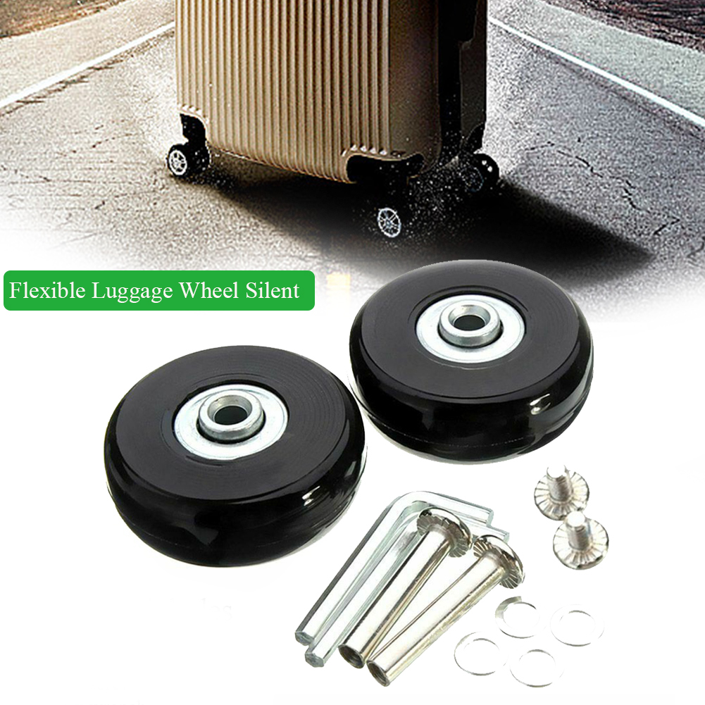 4Pcs Universal Flexible Silent Mute Durable Replacement Roller Luggage Wheel Accessories Practical Solid With Repair Tool Travel