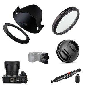 Image 1 - 4で1キット67ミリメートルuvフィルター & レンズフードキャップクリーニングペンキヤノンのpowershot SX70 SX60 SX50 hs G3Xデジタルカメラ