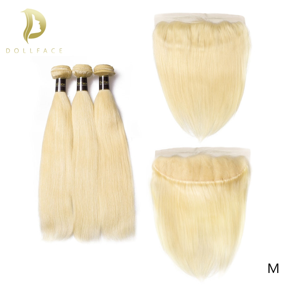 brazilian hair weave 3 bundles with frontal 613 Blonde straight 30 inch remy human hair extensions topper pieces