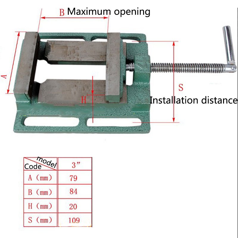 fresagem de perfuração braçadeira máquina vice ferramentas