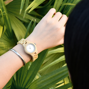 Image 5 - בובו ציפור גבירותיי יוקרה שעונים במבוק עץ אופנה ייחודי נשים קוורץ שעון יד relogio feminino עם יהלומים