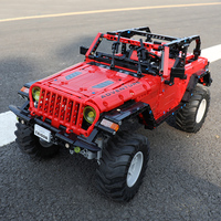 RC Technic Adventurer Wrangler Jeeped Car Vehicle Off Road Remote Control Building Blocks Bricks Kid Boy Toy Educational Gifts