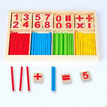 Childrens Early Learning Educational Puzzle Toys Wooden Counting Rod Montessori Math