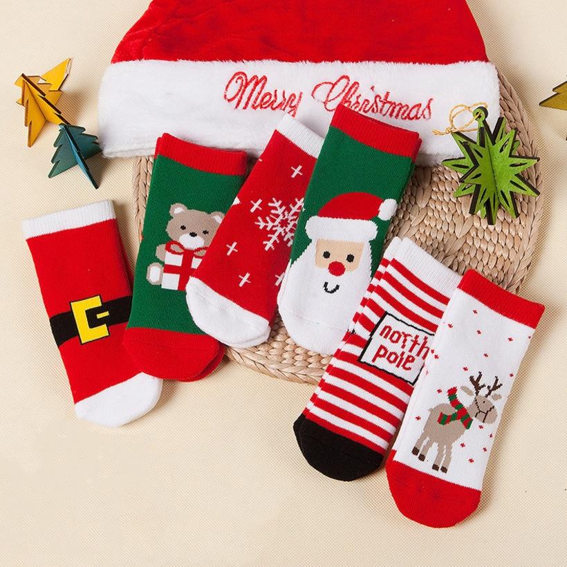 Children Socks Cute Christmas Socks Santa Deer Infant Kids Socks Newborn Meias Infantil Toddler Boys Girls Sock Xmas Kid Clothes