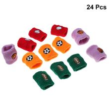 24 Pcs Kids Sports Wristband Sweat Absorbent Elastic Football Sports bands Wrist Protector Sweatbands for Playing Basketball