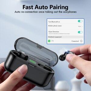 Image 5 - TWS V5.0 Bluetooth kulaklık 8D Stereo kablosuz kulaklıklar spor kablosuz kulaklık ile LED 2000 mAh şarj kutusu telefon tutucu