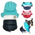 Водонепроницаемая куртка для больших собак на осень и зиму, теплая одежда для маленьких и больших собак, пальто с капюшоном для французског...