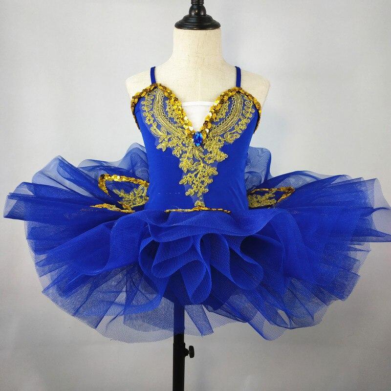 Новая детская одежда для выступлений пышная вуаль, расшитая блестками газовая юбка Детский костюм балетный костюм