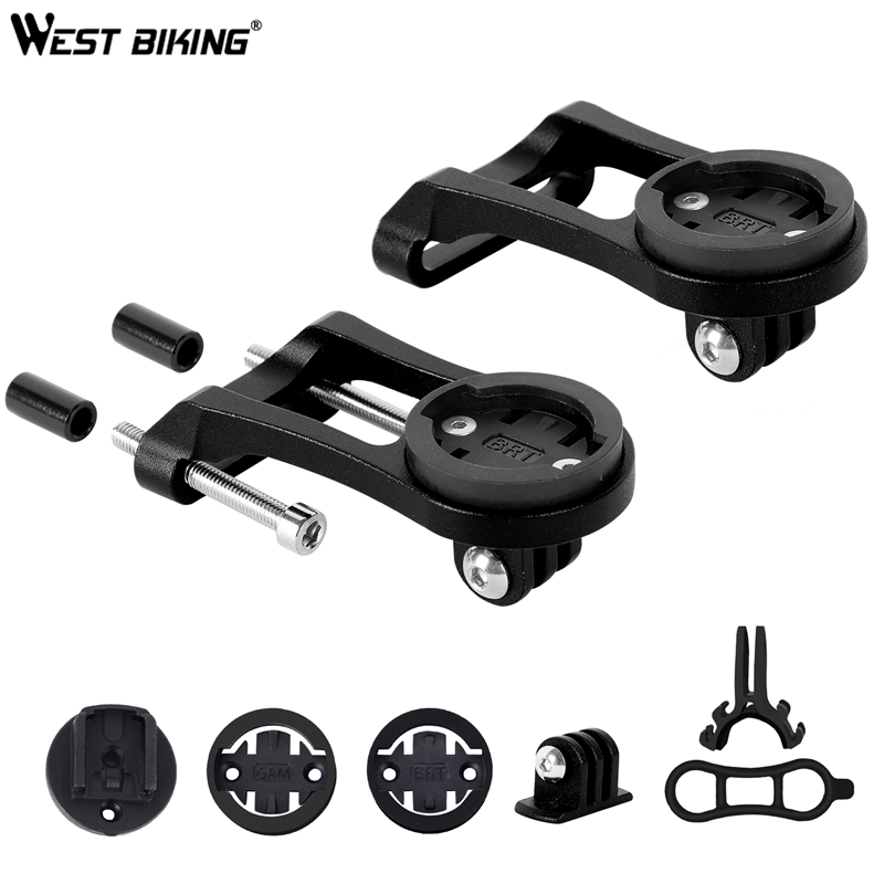 WEST BIKING <font><b>Bike</b></font> Computer Mount for <font><b>Bike</b></font> <font><b>GPS</b></font> Computer Garmin, <font><b>Bryton</b></font>, Cateye, IGPSPORT, Headlight, Camera GoPro Stem Extension image