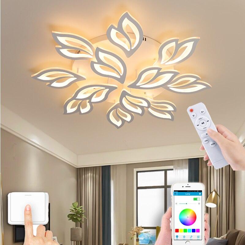 Nordic modern smart remote control simple chandelier living room bedroom LED ceiling lamp kitchen balcony lighting