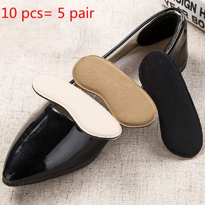 Вставки для обуви 10 шт. = 5 пар, Нескользящие вкладыши для защиты каблука, комфортные вкладыши для обуви, невидимые вставки