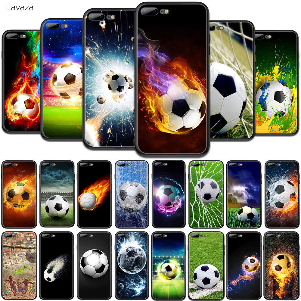 Lavaza voetbal TPU Soft Case voor OPPO A1K A3s A5s A7 A37 A39 A57 A77 A5 A9 2020 F3 F9 reno 10x