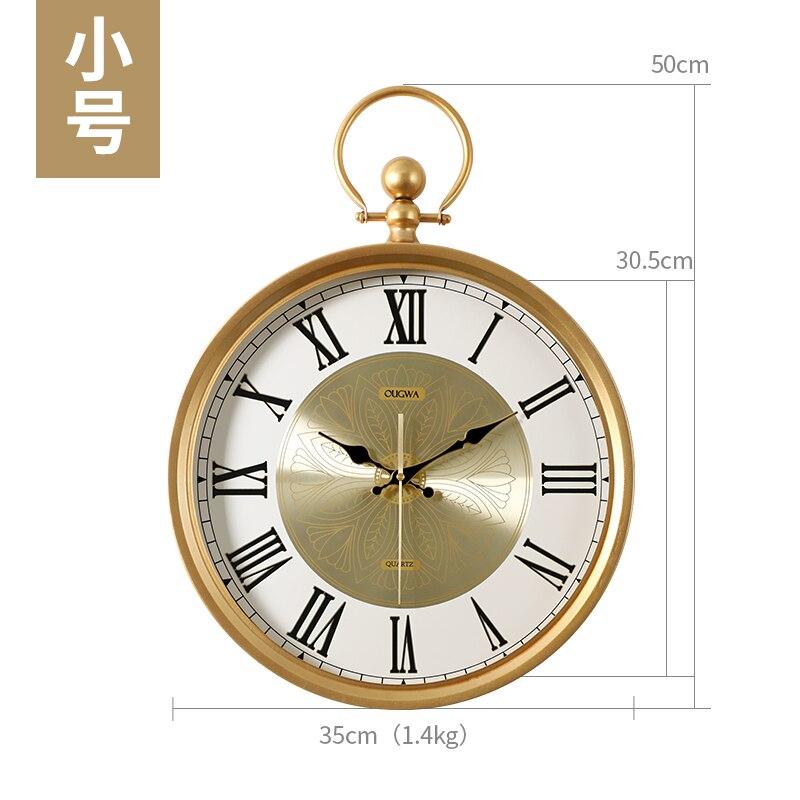 Nordic Creativo Orologio Da Parete Muto Salotto Moderno Semplice Orologio Di Lusso Casa di Moda Reloj Pared Madera Orologio Da Parete DD6WC - 6