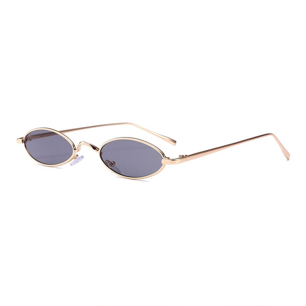 Summer Trendy DesignSunglasses Women Men Small Oval Fashion <font><b>Unisex</b></font> Metal Frame UV Protective Eyewear Glasses <font><b>Culos</b></font> De image