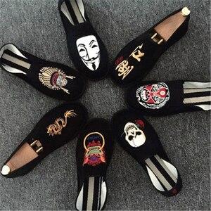 Image 1 - אביב אופנה דירות נעלי נעליים חצאיות נעלי בד אור קשה ללבוש 2019 איש נשים בד Harajuku גומי בד לרקום נעליים