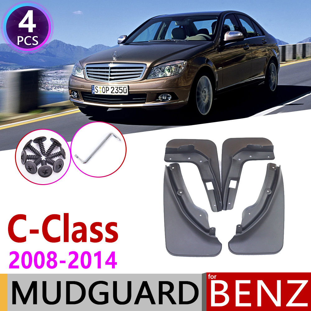 Mudflap For Mercedes Benz C Class C-Class W204 2008~2014 Fender Mud Guard Flaps Mudguards Accessories 2009 2010 2011 2012 2013