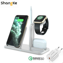 3-in-1 Wireless Charger Stand for AirPods Pro Apple Watch Charge Dock Station for Apple Watch Series 5/4/3/2 iPhone 11 X XS XR 8