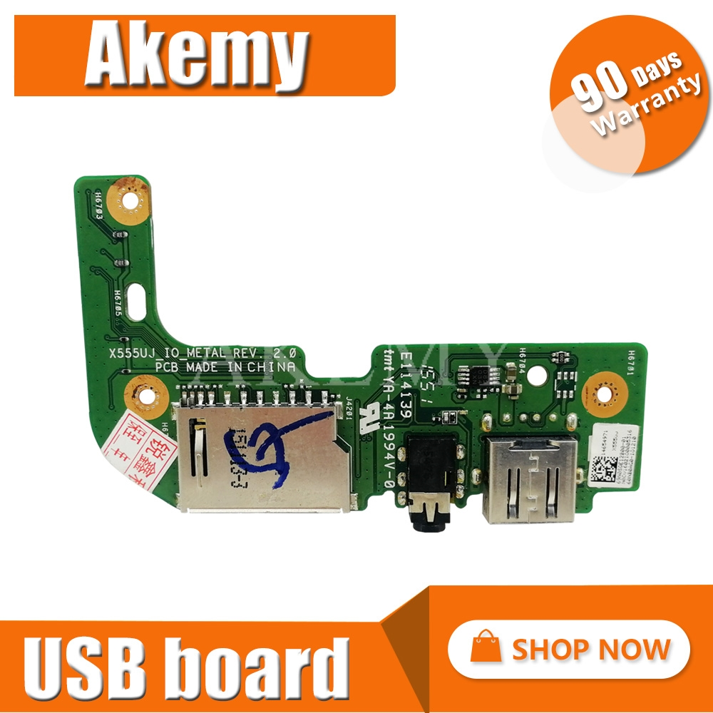 For ASUS X555 X555U X555UJ_IO REV:2.0 USB AUDIO CARD READER BOARD With Cable