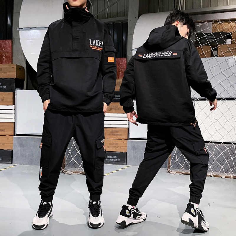 Mannen Vroege Herfst Leisure Suit Nieuwe Stijl Populaire Merk Tweedelige Set Mannen Herfst Koreaanse Stijl Knappe Grote size Hoodie Sportswea