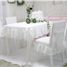 Tablecloth Wedding-Decorative Bedroom Lace CUSTOM New White Fresh Skirt for Round Elegant