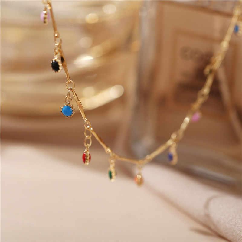 17 キロ石ビーズチョーカー襟のネックレスボヘミアン赤、青石ペンダントネックレス手作りジュエリー