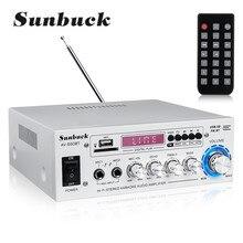 Miniamplificador para cine en casa, 2 canales, pantalla LED, bluetooth, estéreo HiFi, soporte para tarjeta de memoria USB, Radio FM