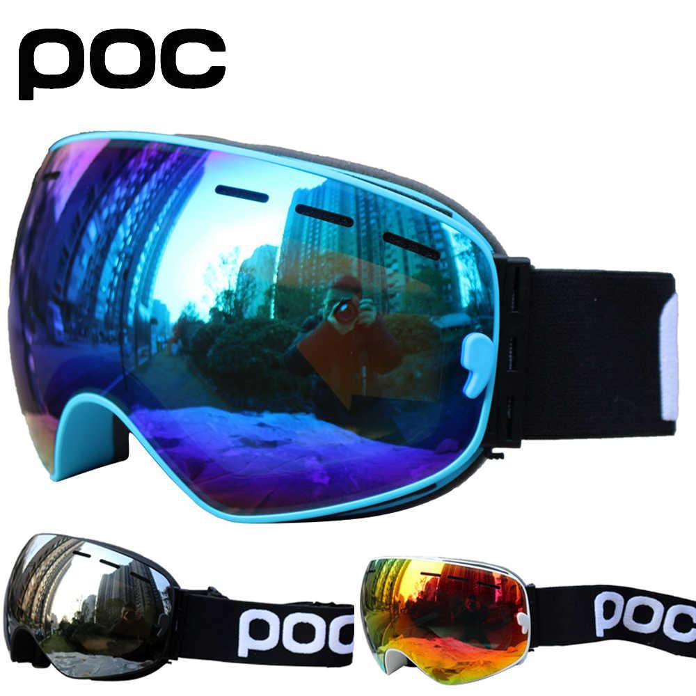 Лыжные очки, двухслойная противотуманная большая Лыжная маска UV400, очки для катания на лыжах, сноуборде, очки для мужчин и женщин, лыжные очки