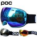 Лыжные очки, двухслойная противотуманная большая Лыжная маска UV400, очки для катания на лыжах, сноуборде, мужские и женские лыжные очки
