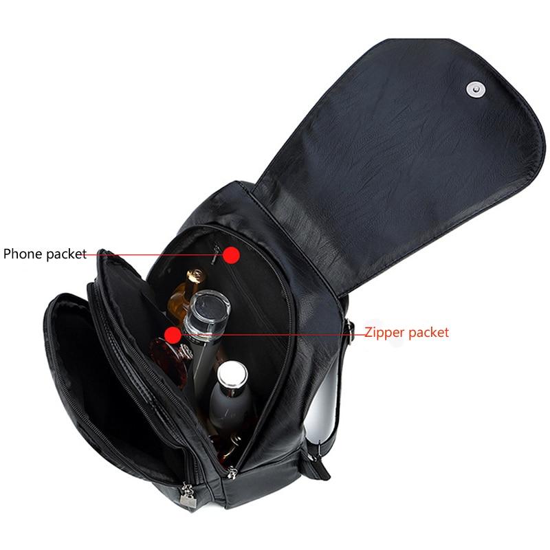 Women's Vintage Leather Backpack 5