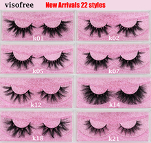 Visofree Eyelashes Mink Cruelty Free Handmade 3D Lashes False Crisscross Thick Makeup Beauty Faux Cils