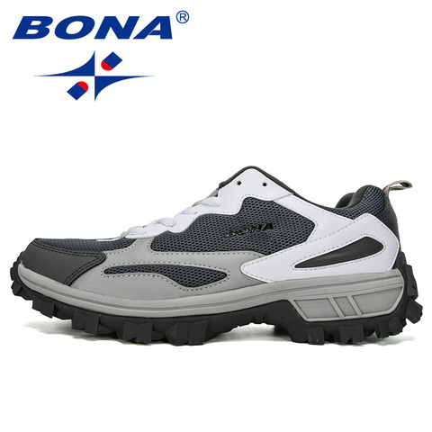 BONA 2019 New Designer Outdoor Men Cow Split Hiking Shoes Men Sport Shoes Trainers Shoes For Men Training Jogging Sneakers Shoes Multan