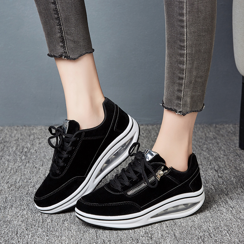 2019 Women Walking Shoes Height Increasing Sport Running Shoes Air Cushion Comfortable Athletic Sneakers Cheap Trainers Ladies|Running Shoes| |  - title=