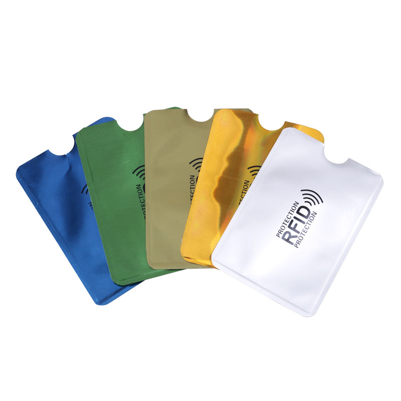 10pcs/set RFID Shielded Sleeve Card Blocking 13.56mhz IC Card Protection NFC Security Card Prevent Unauthorized Scanning