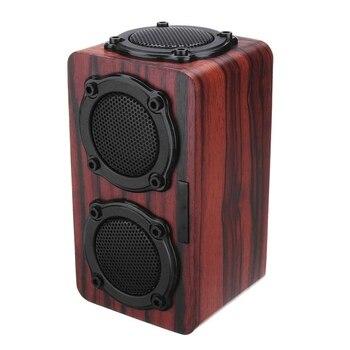 Wireless Bluetooth Speaker Wood Subwoofer Audio Bluetooth Speaker Hi-Fi Fm Radio Portable Outdoor Subwoofer Music Player фото