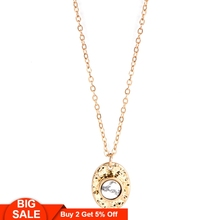 Fever&Free White Color Opal Stone Choker Necklace Women Antique Alloy Gold Chain Pendant Collar Jewelry For Female Gift