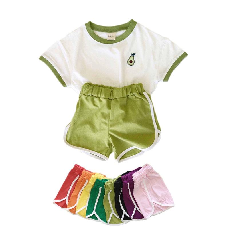 padrão de frutas impressão menino menina camisetas